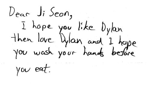 Dylan\'s letter to his mom